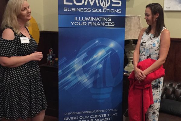 The actual unveiling of Lumos Business Solutions new name new colours